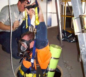 Confined space training at Fire & Safety Australia's training facilities
