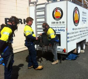 Confined Space Rescue Trailer from Fire and Safety Australia