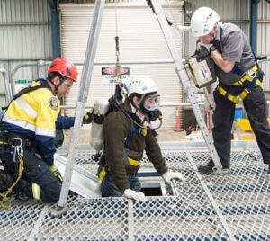 Confined Space Rescue Training at Fire and Safety Australia's training facility