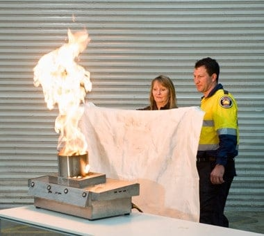 Fire Training Course with Fire Blanket