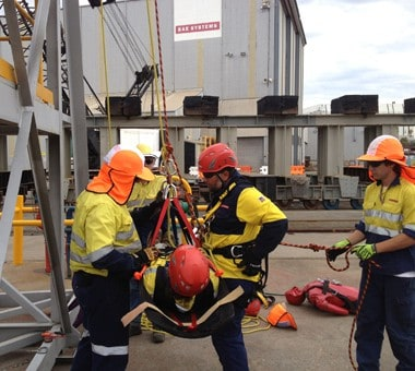 Tower Rescue Training Image at Fire and Safety Australia