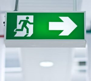 Emergency Exit Sign Fire and Safety Australia