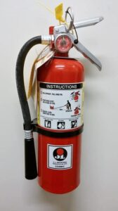 Fire Extinguisher with Instructions at FSA