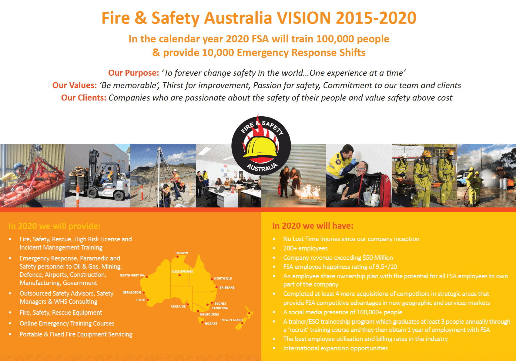 Fire and Safety Australia Vision 2015-2020
