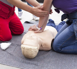 CPR Image by Fire and Safety Australia